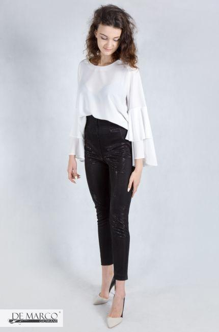 a24f1c640f41b9 De Marco, moda i styl. Biała bluzka, czarne spodnie. | Stylizacje ...