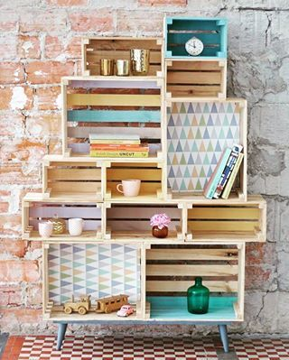 Smart ways to decorate with fruit crates
