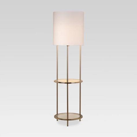 Glass Shelf Floor Lamp Silver Threshold Silver Floor Lamp