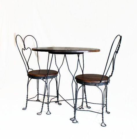 Ice Cream Parlor Table And Chair Set