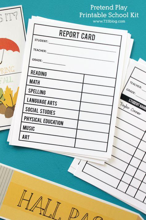 Pretend Play Printable School Kit Inspiration Made Simple School Kit Dramatic Play Preschool Pretend Play Printables