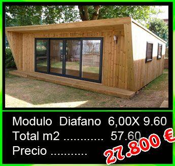 Modulo Diáfano De 6x9 60m Casas Mobiles Casas