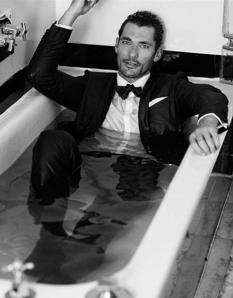 David Gandy by Arnaldo Anaya-Lucca for British GQ (Oct issue) David Gandy, Most Stylish Men, Men Photography, British Men, Black And White Pictures, Perfect Man, Portrait, Look Fashion, Male Models