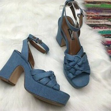 Nine West Womens FETUCHINI Leather Heeled Sandal