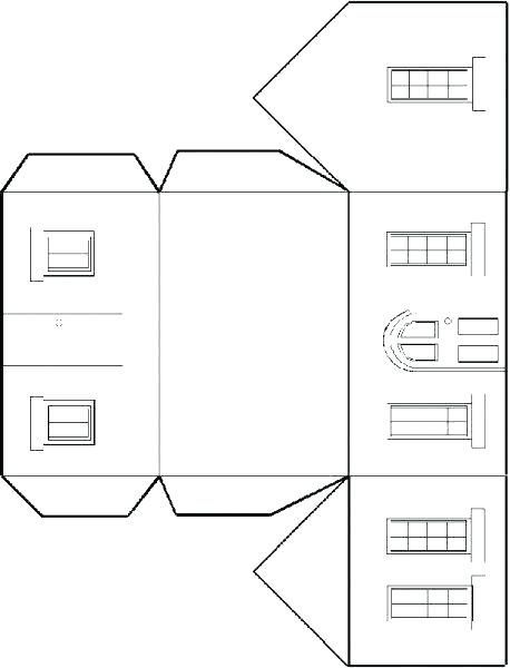 Paper House Template Houses Images Of Small Download Printable