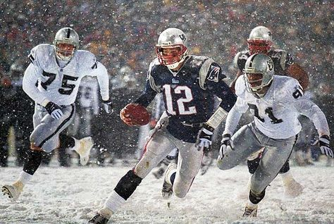 Tom Brady, New England Patriots - I just love snow games! #GoPats - www.realdealsontheweb.com www.advocare.com/130433273