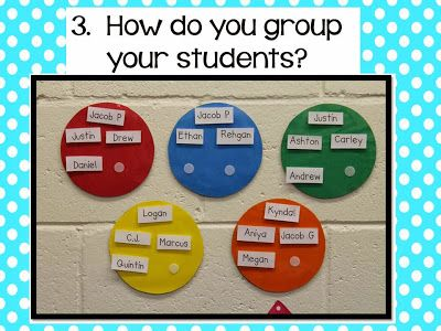 Easily modify groups with names on Velcro | Teaching | Classroom