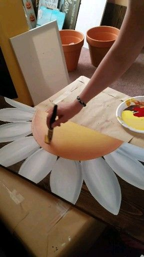 Speed Painting Flower Welcome Sign