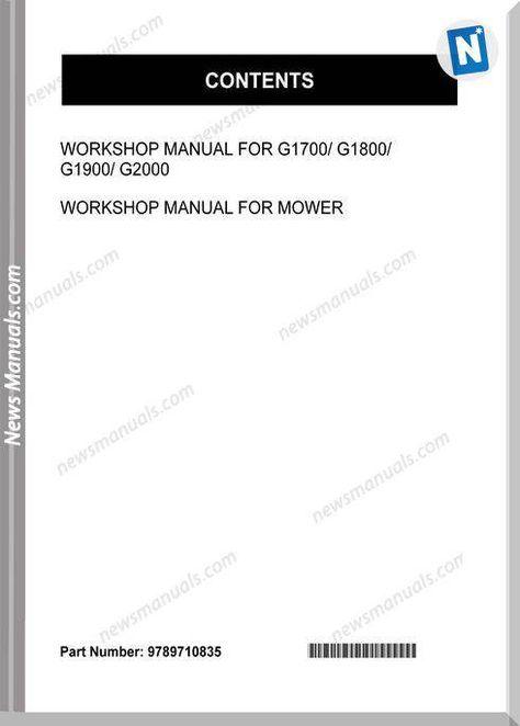 Kubota G1800 Series Workshop Manual Workshop Manual Kubota