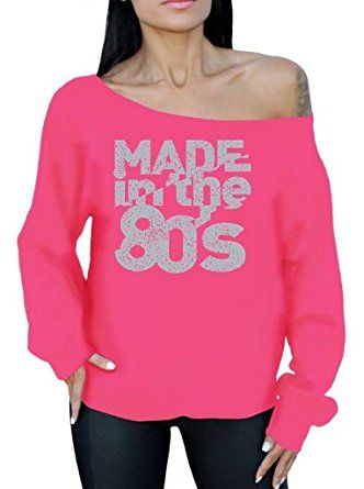 Awkward Styles Made In the 80s Off the Shoulder Oversized Sweatshirt