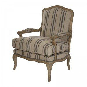 Striped French Arm Chair Upholstered Chairs Armchair French Chairs