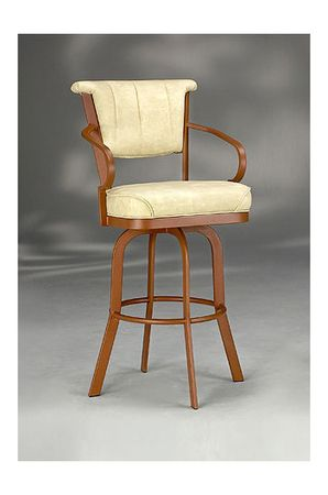 Kenna Upholstered Swivel Counter Stool W Curved Arms Swivel Counter Stools Stool Counter Stools Swivel counter stools with arms