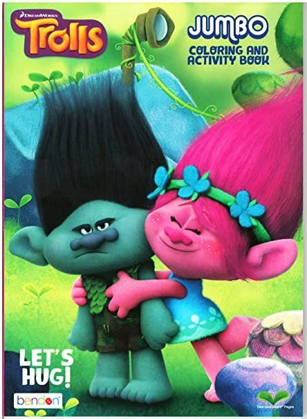 Dreamworks Trolls Coloring Book Luxury Dreamworks Trolls Lets Hug Jumbo Coloring And Activity B Book Activities Toddler Coloring Book Teddy Bear Coloring Pages
