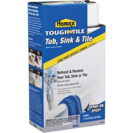 Homax Tough As Tile Epoxy Tub Tile Spray Paint Walmart Com Tub Tile Refinishing Kit Tub Refinishing
