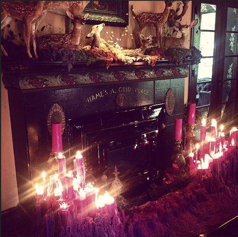 Kat Von D intérior house Strange but so lovely !