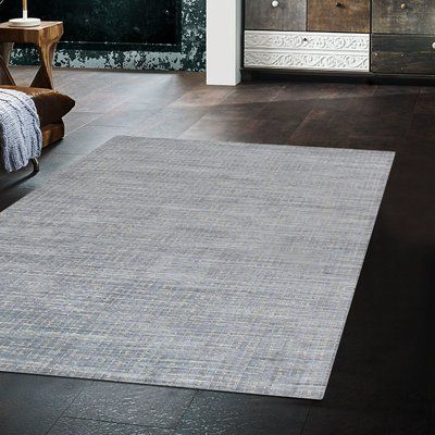 Slate Hand Knotted Silk Wool Blue Area Rug Rug Size Rectangle 10 X 14 In 2020 Blue Area Rugs Area Rugs Rugs
