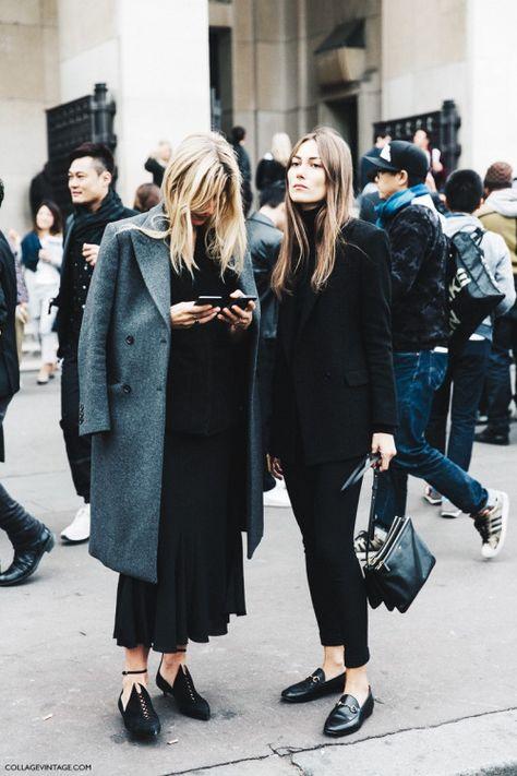 All black outfit / Street style fashion / fashion week week