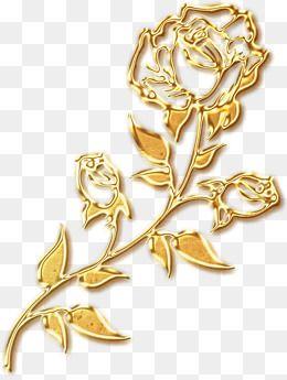Golden Roses Silhouette Golden Rose Rose Outline Gold Flowers