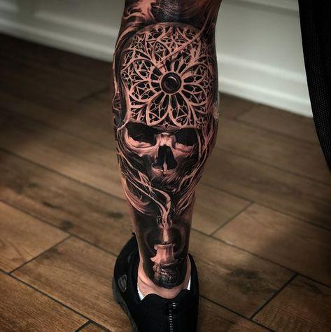 Badass Skull Tattoos For Men Tattoosformenideas Tattoosformenbadass Tattoos For Guys Cool Tattoos For Guys Skull Tattoo