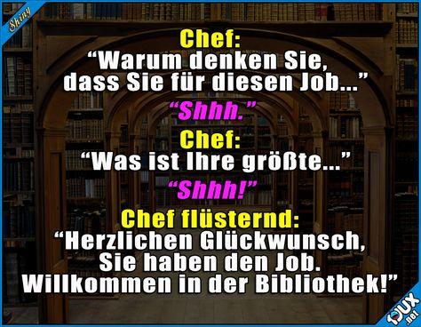 Perfekte Voraussetzungen :P  #lustigeSprüche #Humor #lustig #Sprüche #Jodel #Bibliothek #Vorstellungsgespräch #eingestellt #lustigeBilder