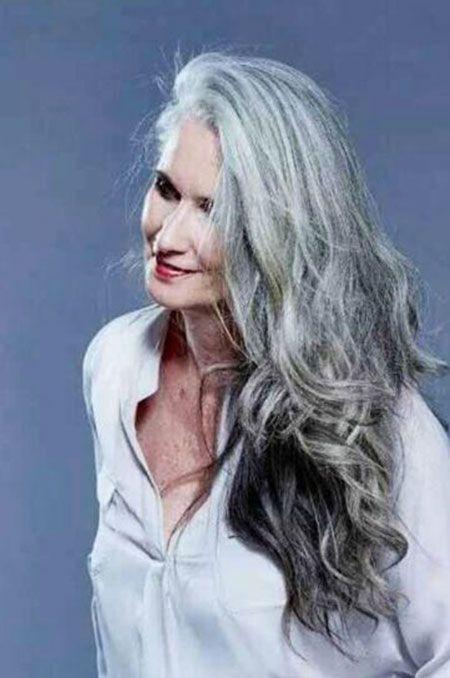 Haare frisuren lange graue Frisuren Graue