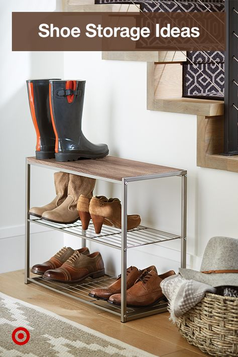 Find neat shoe racks  storage ideas to keep your shoes organized  your entryway or mudroom floors clutter free.