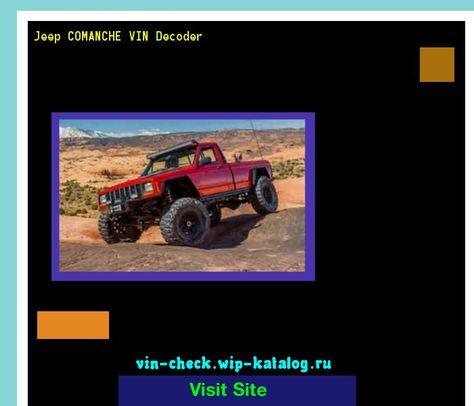 Jeep Comanche Vin Decoder Lookup Jeep Comanche Vin Number