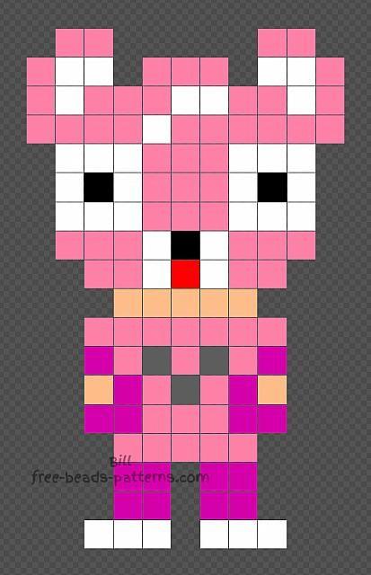 Cuddle Fortnite Character Free Hama Beads Design 11x18