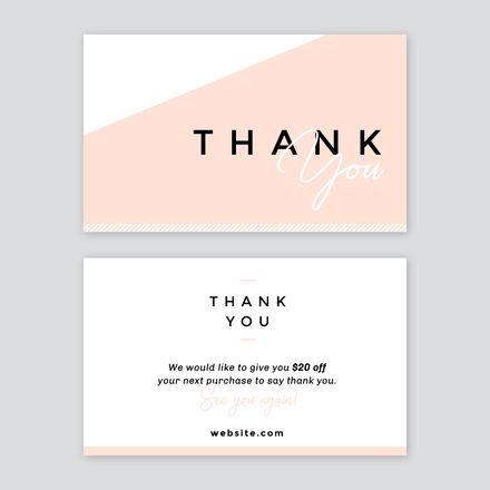 Abstract Thank You Card Easil Thank You Card Design Graphic Design Business Card Gift Card Design