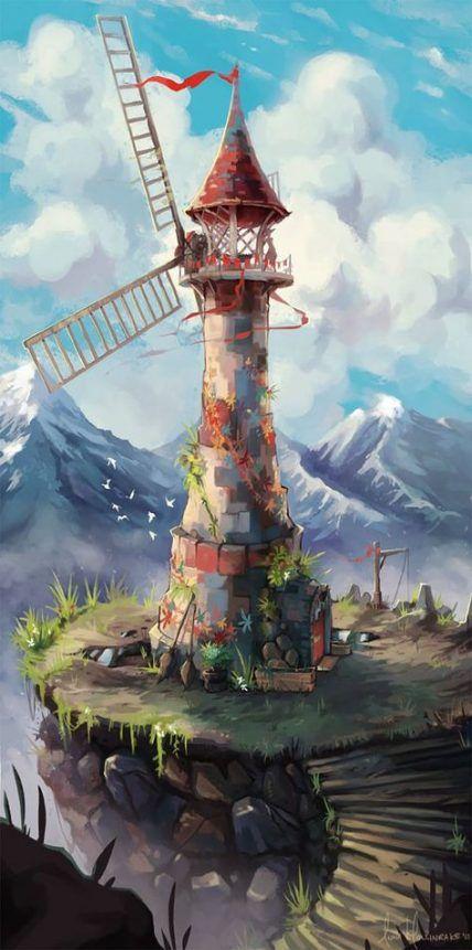 Digital Art Landscape Perspective 33 Trendy Ideas Environment Concept Art Digital Painting Landscape Concept
