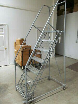 Ad Ebay Uline 7 Step Rolling Safety Ladder W 10 Top Step 486 Msrp Make An Offer Now Safety Ladder Ladder Aluminium Ladder