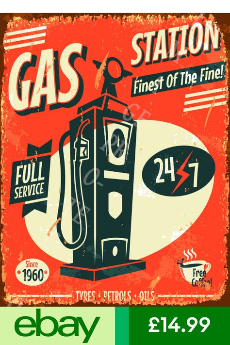 METAL SIGN CO GAS /& OIL GARAGE ADVERTISING SIGN SMALL RETRO VINTAGE STYLE tin wall art shed workshop garage classic cars
