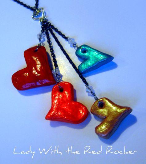 Salt heart necklace