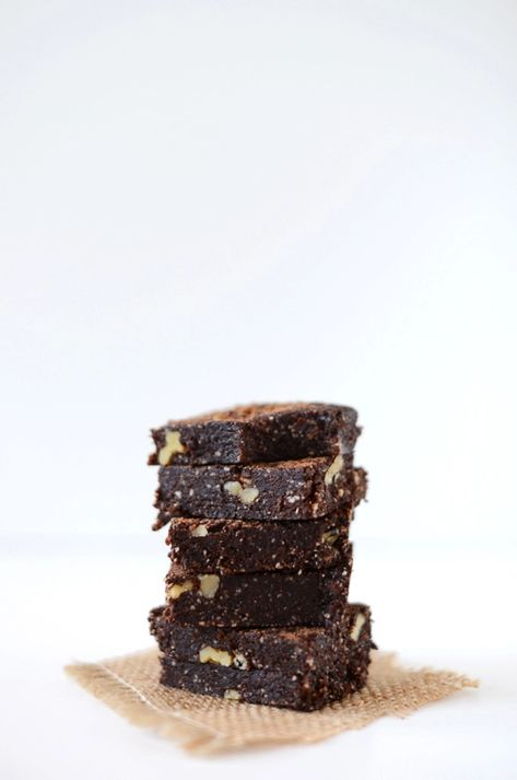 5-Minute Espresso Walnut Brownies   Minimalist Baker Recipes
