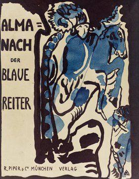 Endgultiger Entwurf Fur Den Umschlag Des Almanachs Der Blaue Reiter Von Wassily Kandinsky Kunstdruck Bildergipfel De Wassily Kandinsky Kandinsky Blauer Reiter