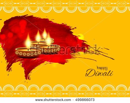 Abstract Elegant Watercolor Happy Diwali Background Design