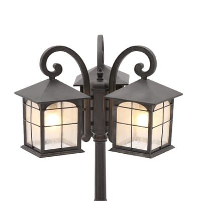 Home Decorators Collection Brimfield 3 Head Aged Iron Outdoor Post Light Hb7019a 292 Outdoor Post Lights Post Lights Lamp Post Lights