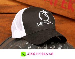 bbfa9c93ed8 ... norway paris georgia black wide brim hat bona drag peach state pride  black trucker hat hats
