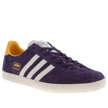 adidas gazelle violet jaune