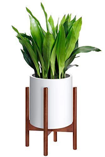 Moonla Plant Stand Mid Century Wood Flower Pot Holder Dis Https Www Amazon Com Dp B07h4n28k2 Ref Cm Sw R Pi Dp Flower Pot Holder Plant Stand Diy Crystals