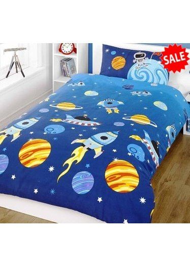 Rocket Boys Toddler Bedding Spaceships Stars And Planets My