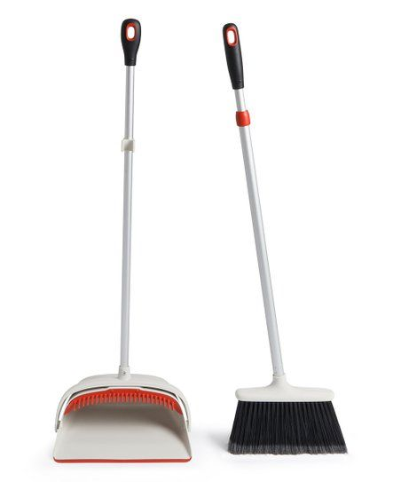 This Set Makes A Dynamic Duo For Your Home Cleaning Needs Soft Tipped Bristles On The Extendable Broom Sweep Up Dirt And Debris With Broom Good Grips Dust Pan