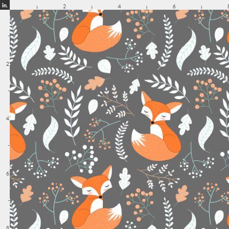 Baby Birds Natural Woodland Nursery Cotton Fabric Children Nursery