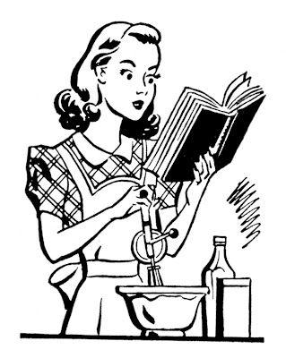 Vintage woman cooking
