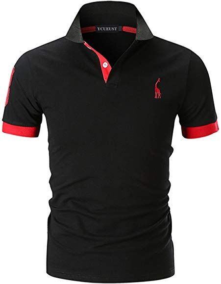 Ycueust Nummer 3 Poloshirts Herren Kurzarm Kontrast Polohemd Polo Shirts Regular Fit Schwarz Eu Xl Muzhskoj Naryad Muzhskie Futbolki Futbolki