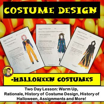 Drama Lesson Costume Design With Halloween Characters Lesson Teachers Pay Teachers Seller Drama Education