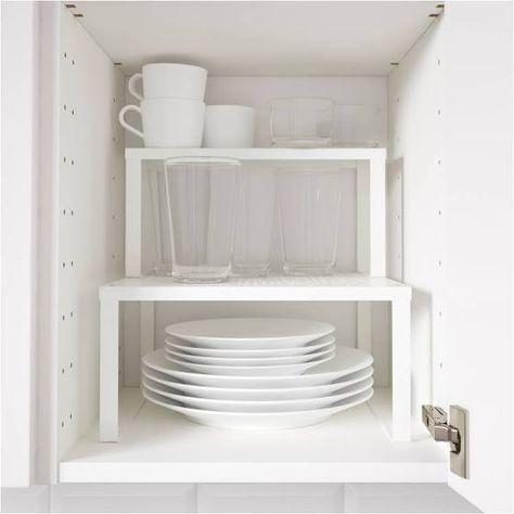 IKEA VARIERA, Regaleinsatz, 32x16x13 cm, weiß