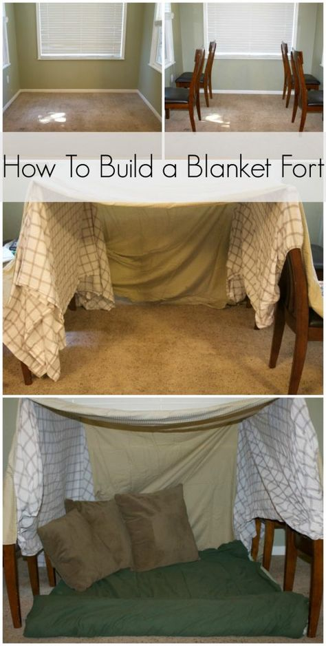 How To Build a Blanket Fort how to make blanket fort. How to make a fort out of blankets. How to make a pillow fort. Sleepover Fort, Sleepover Crafts, Fun Sleepover Ideas, Sleepover Activities, Girl Sleepover, Ideas For Sleepovers, Sofa Fort, Soirée Pyjama Party, Indoor Forts