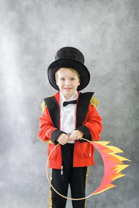Kids Ringmaster Costume Magician Circus Showman Lion Tamer Boys Child Book Week
