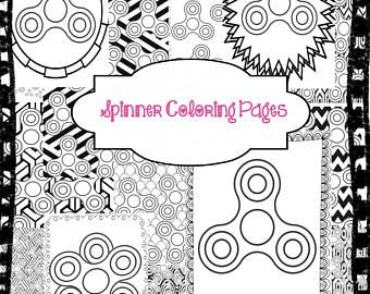 Fidget Spinner Coloring Page | Art | How to draw hands, Etsy ...